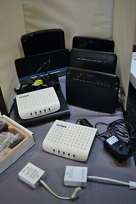 Job Lot Of Modem / Routers 8 In Total With PSU's • 20£