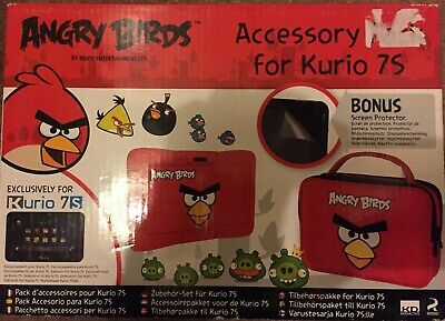 Angry Birds Kurio 7S Accessory Pack Protective Case, Bag & Screen Protector NEW • 10£