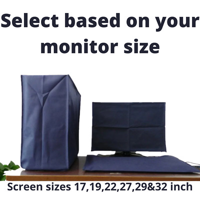 Computer Dust Cover Set 3 Piece Set Universal Fit Screen 17-32 Inch Screen SALE! • 18.99£