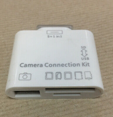 GENUINE APPLE IPAD 30 PIN 5 In 1 CAMERA CONNECTION KIT • 6£