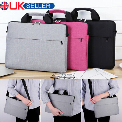 15.6 Inch Laptop Shoulder Bag PC Waterproof Carrying Soft Notebook Case Cover UK • 10.99£