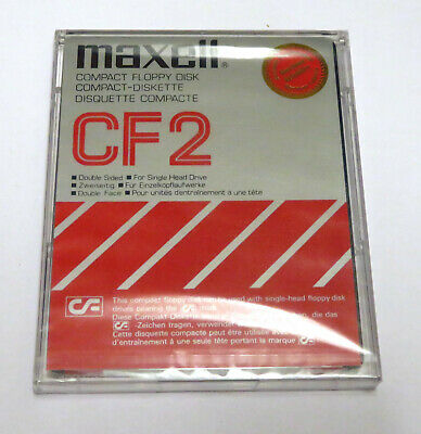 Maxell Compact Floppy Disk - Cf 2 - Double Sided - New Sealed • 4.70£