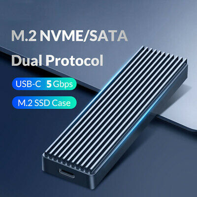5Gbps M.2 NVME To USB3.1 SSD Enclosure Adapter Type-C SSD External Case Box • 9.19£
