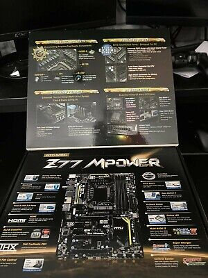 MSI Z77 Mpower ATX Motherboard LGA 1155 Immaculate Condition. • 35£