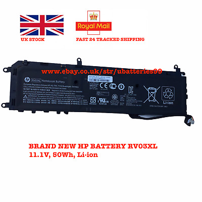 RV03X Genuine  Battery For HP ENVY Rove AIO 20-K014US 722237-2C1 722298-001 50wh • 39.99£