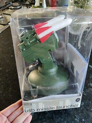 USB Missile Launcher Game (M&S) With CD • 5.90£