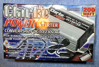 Clarke Power Inverter 200 Watt Model CI-400 Coverts 12v DC To 230v AC • 35£