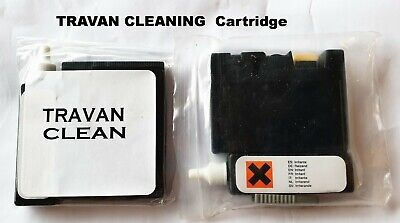 TRAVAN CLEANING CARTRIDGE WET Or DRY WITH CLEANING SOLUTION - EXTEND DRIVE LIFE! • 7£