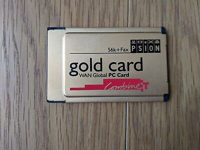 Psion Gold Card WAN Global PC Card 56k + Fax PCMCIA Card For Laptops • 8.99£