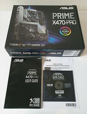 Asus Prime X470-Pro - Empty Box + Install DVD + User Guide Only • 13.99£