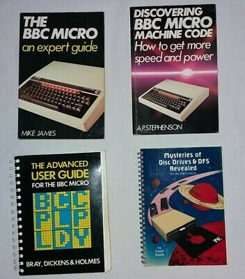 BBC Micro Computer Books X4 Incl. An Expert Guide + Advanced User Guide • 31£