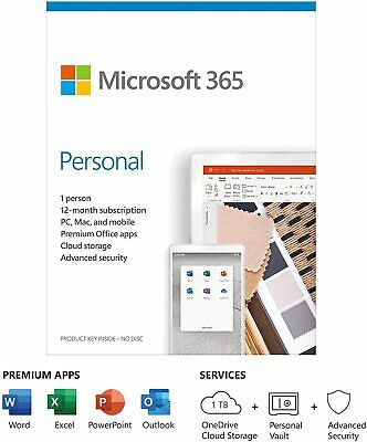 Microsoft Office 365 Personal | 1 User | 1 Year Subscription | PC/Mac/Tablet Key • 39.85£