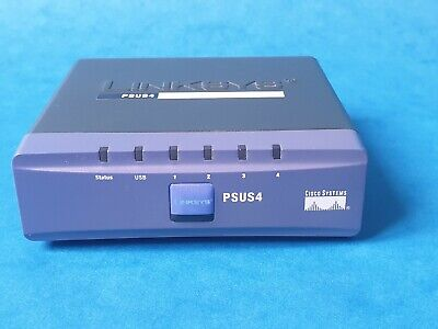 Linksys Psus4 Print Server (with 4 Port Switch) : Tested, Working : Excellent  • 15£