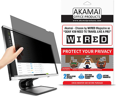 Akamai Office Products (Diagonally Measured Privacy Screen For Widescreen Comput • 64.45£