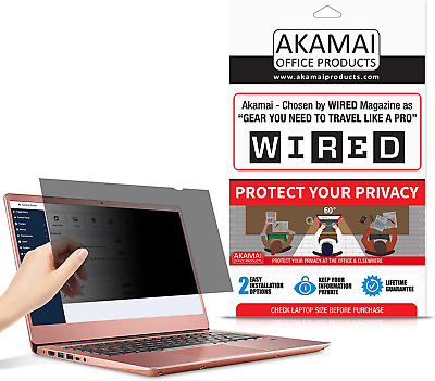 17  Akamai Computer Privacy Screen (16:10) - Black Security Shield - Laptop Moni • 49.27£
