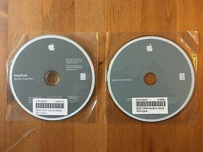 Mac OS X Installation 2 Disc Set • 4.99£