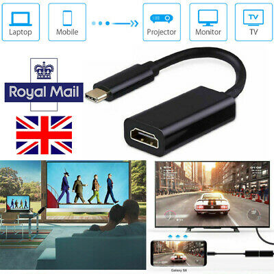 UK USB C Type C To HDMI Cable TV AV Adapter Mobile Phone Tablet HDTV For Samsung • 5.99£