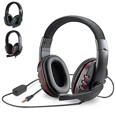 Gaming Headset For Xbox One PS4 Nintendo Switch PC Laptop Stereo Mic Headphones • 9.97£