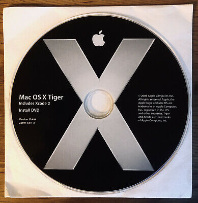 Mac OS X Tiger VERSION 10.4 - Installation DVD Only • 5.50£