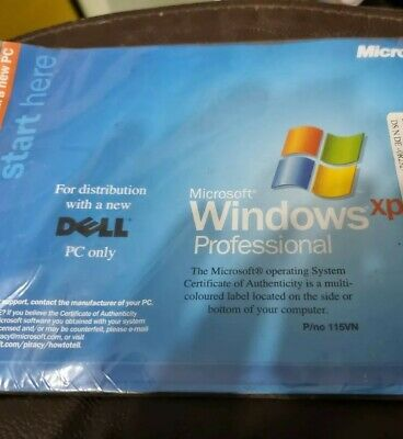 Dell Windows XP Pro Professional Reinstallation  Disk With SP1a • 8£
