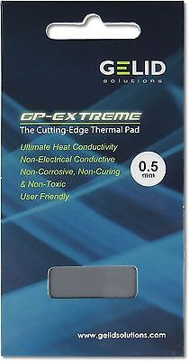 Gelid Solutions GP Extreme .5mm Thickness Thermal Pad (80 X 40 X 0.5 Mm) W/mK 12 • 7.97£