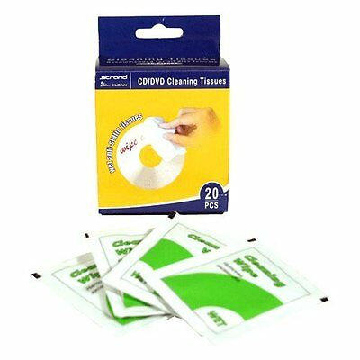 CD/DVD Cleaning Tissues 20pc X 8pks (160 Wipes) - 14181146 • 9.99£