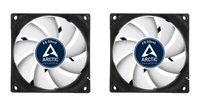 2 X Pack Of Arctic F8 Silent, 80mm 8cm PC Case Fan, High Performance 6 Year Warr • 11.97£