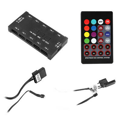 Rainbow PWM Fan Controller, Remote Control System, Takes Up To 10 X 6Pin Fans • 13.97£