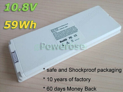 Battery A1185 For Apple MacBook 13  Late 2006 2007 2008 2009 A1181 White 10.8V • 17.96£