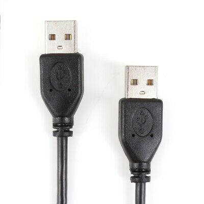 DOUBLE ENDED USB CABLE 1.8 METRES Type A PC Computer Device Connector Adaptor • 3.59£
