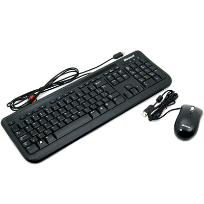 Original Microsoft Keyboard 600/400 And Optical Mouse,  Wired USB  • 11.88£