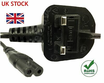 1.8M Figure Fig Of 8 IEC C7 Mains Power Lead Cable SATELLITE RADIO SKY  PS3 PS4  • 3.99£
