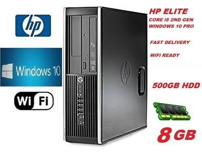 Fast HP Core I5 PC COMPUTER DESKTOP 8GB 500GB HDD WIN 10 PRO WiFi EXTREME JOB • 108.88£