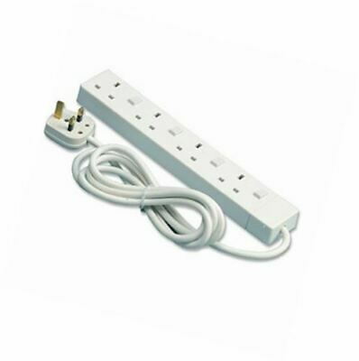 PIFCO 2 Meter 4 Gang Way Extension Lead With Single Plug Switches 1.25mm Cable • 8.99£