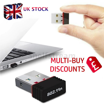 Usb Wifi Adapter Wireless Dongle Adaptor 802.11 B G N Lan Network • 4.29£