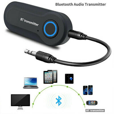USB Bluetooth V4.2 Stereo Audio Transmitter 3.5mm Music Dongle Adapter For TV PC • 5.05£