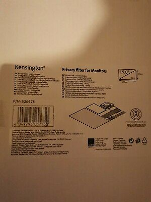 NEW! Kensington 626476 Privacy Filter 2 Way Removable 19   Widescreen 5:4 • 40£