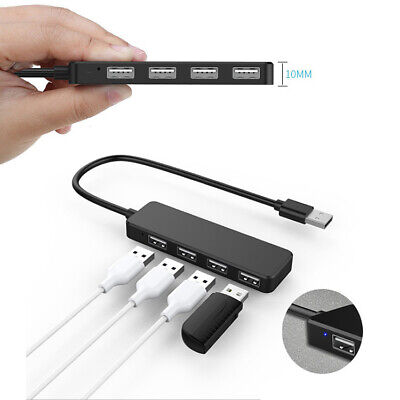 Speed 4 Port USB 2.0/3.0 Multi HUB Splitter Expansion PC Laptop Cable Adapter • 7.99£