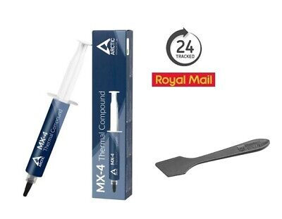 Arctic Cooling MX-4 4g Thermal Compound Paste Tube No Silver, Spatula Spreader • 6.97£