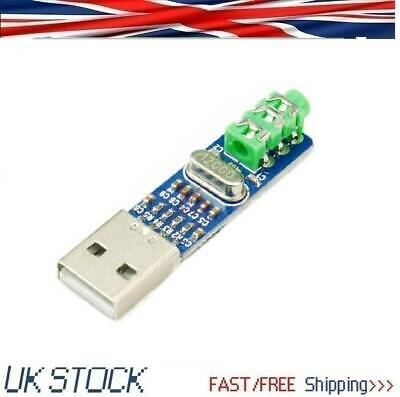 1PCS USB Powered MINI USB Sound Card Decoder Board DAC For PC Computer PCM2704 • 3.79£