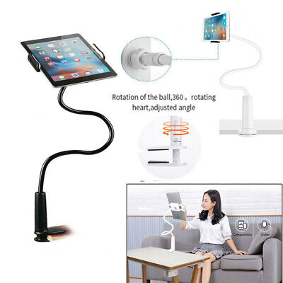 360 Gooseneck Table Bed Clamp Stand Holder Mount For IPad Tablet Flexible Arm UK • 12.99£