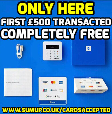 NEW CUSTOMER OFFER •SUMUP AIR•FIRST £500 FREE OF ANY FEES•Contactless SUM UP • 10.49£