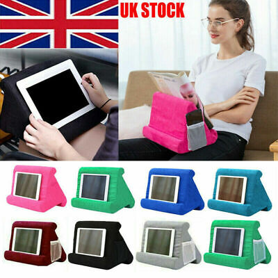 Multi-Angle Soft Pillow Lap Stand IPad Tablet EReaders Magazine Holder Play Gift • 9.99£