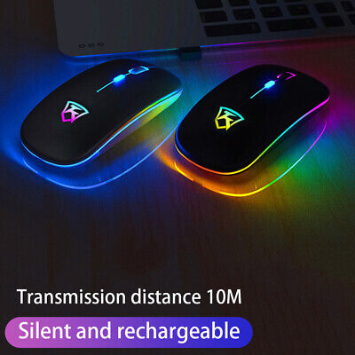 Rechargeable USB Wireless Optical Mouse 2.4GHz For HP Lenovo PC Laptop Notebook • 7.90£