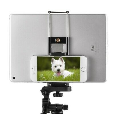 2 In1 Universal Tripod Mount Holder Stand Bracket Adapter For IPad IPhone Tablet • 8.59£