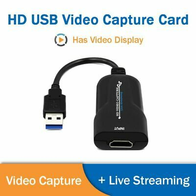 USB Video Capture Card HDMI Video HD 1080P 60 Frames Capture Box Live Streaming • 16.99£