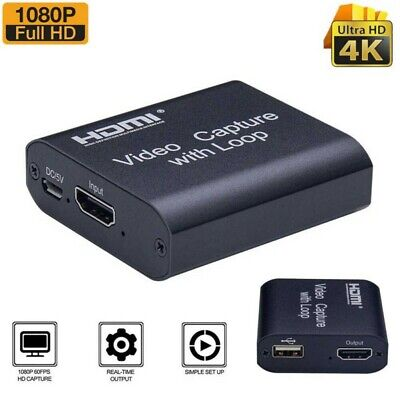 HDMI Video Capture Card USB 2.0 1080P Screen Record Game Capture Streamer Device • 21.99£