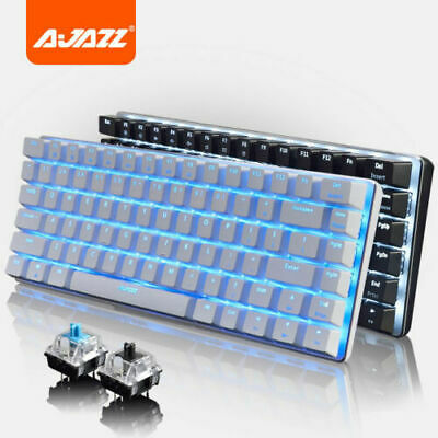 Ajazz AK33 Mechanical Gaming Keyboard Usb Wired Blue Switch For PC Laptop Office • 34.99£