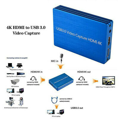4K HDMI To USB 3.0 1080P Video Capture Card For OBS Game Live Streaming Plug • 56.69£