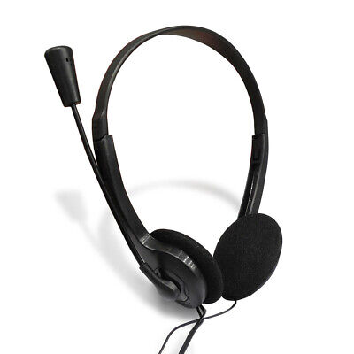 3.5mm Wired Headphones With Mic Headset On The Ear Earphone For Computer Pc  • 6.36£